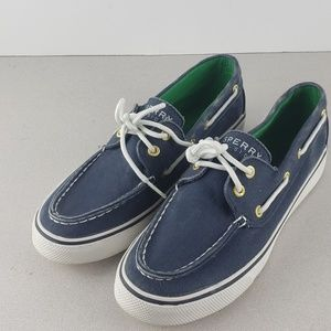 Sperry blue womens 6 lace up sneakers